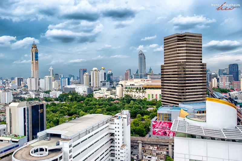 Bangkok Thailand aerial view cityscape