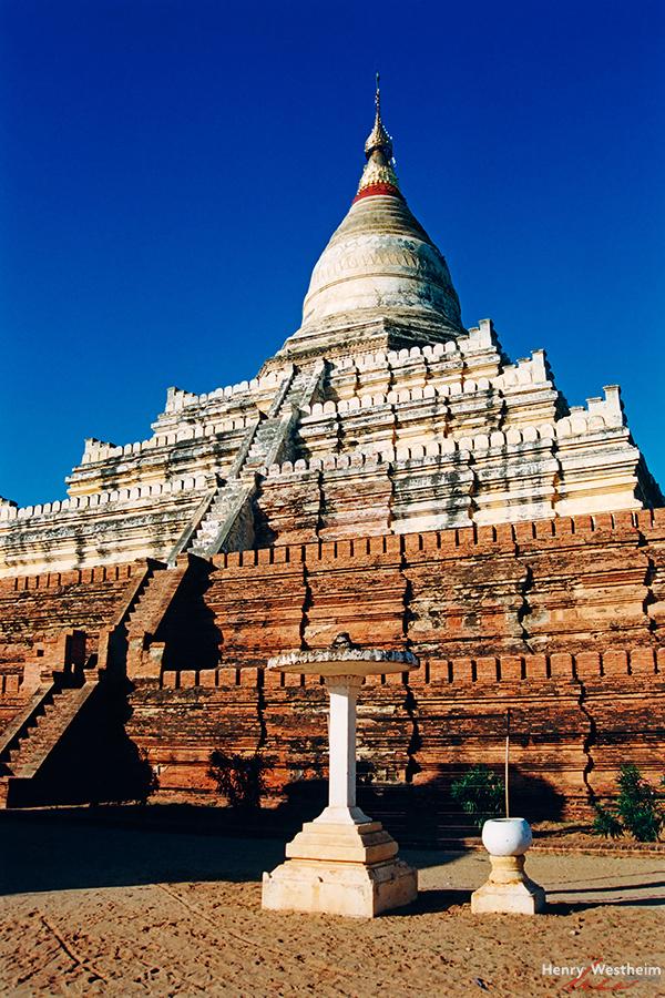 Myanmar Burma Bagan Pagan Shwesandaw Paya temple