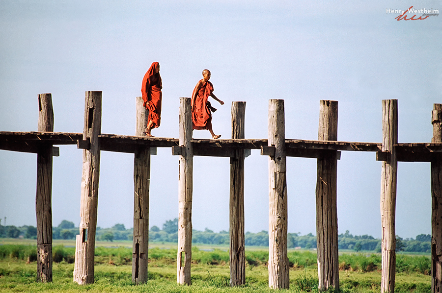 U bein's Bridge, Amarapura, near Mandalay, Myanmar