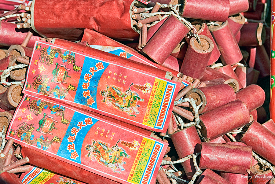 Firecrackers closeup China Chinese New Year