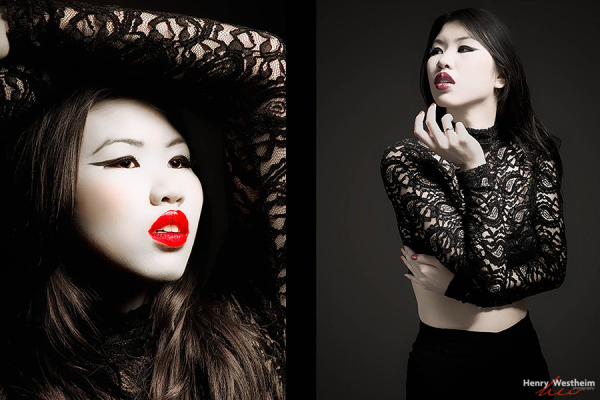 Young Asian Chinese woman fashion beauty portrait