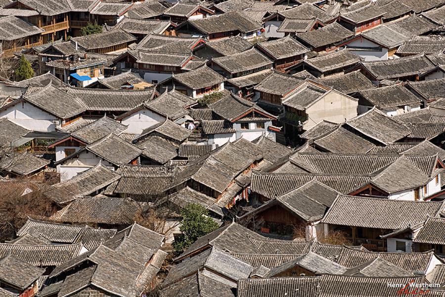 Lijiang, China, traditional Chinese rooftops