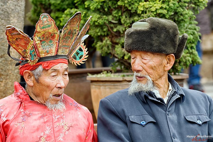 Naxi Dongba Shaman priest, Lijiang, Yunnan, China