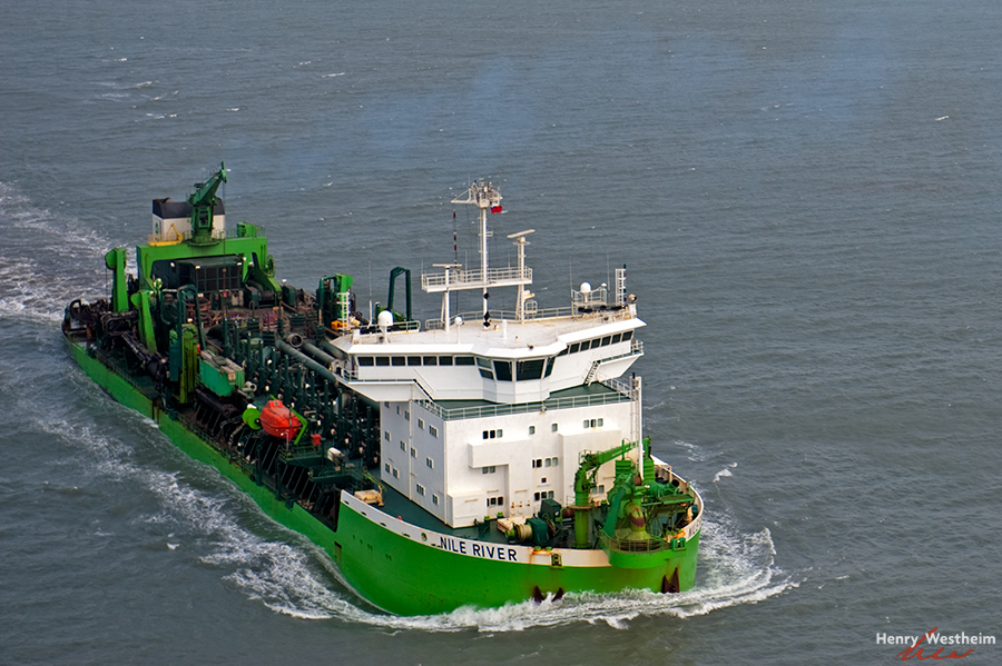 Aerial photo of DEME Group's vessel, Taiwan