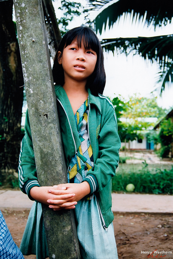 Portrait of a young Vietnamese girl, Vietnam