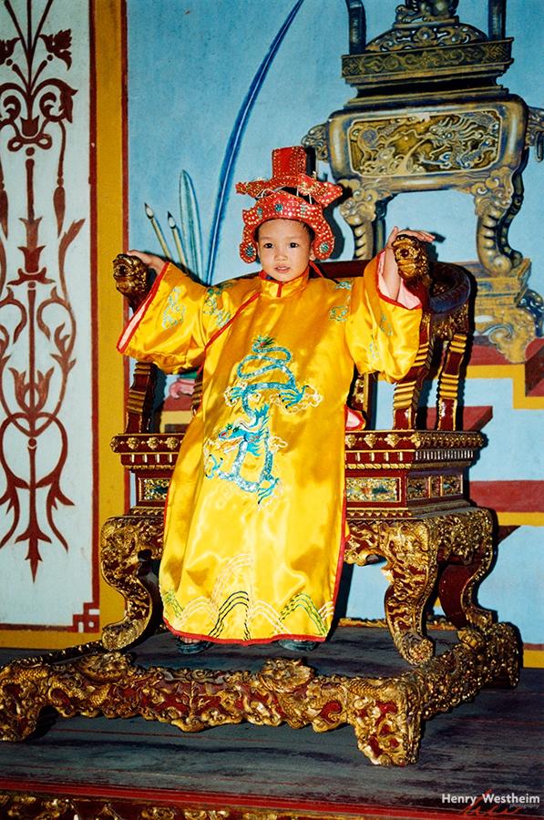 Vietnam, Hue, The Citadel, Boy in emperor costume