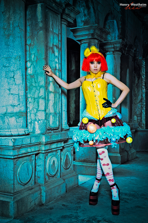 Cosplay young Asian lady woman girl