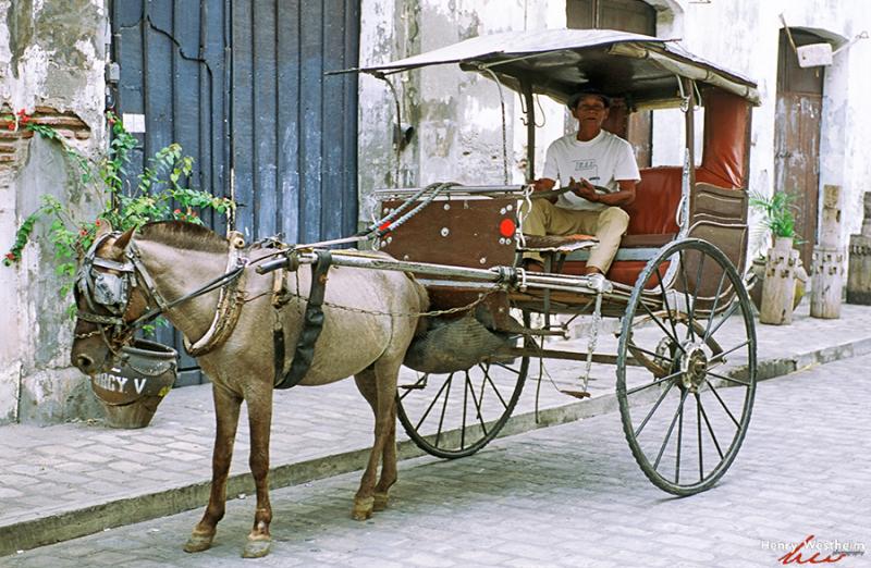 Philippines Horse Drawn Carriage Kalesa Vigan