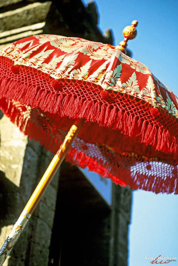 Balinese ceremonial umbrella, Bali, Indonesia