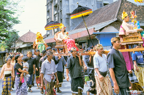 Ceremonial Procession, Kuta, Bali, Indonesia