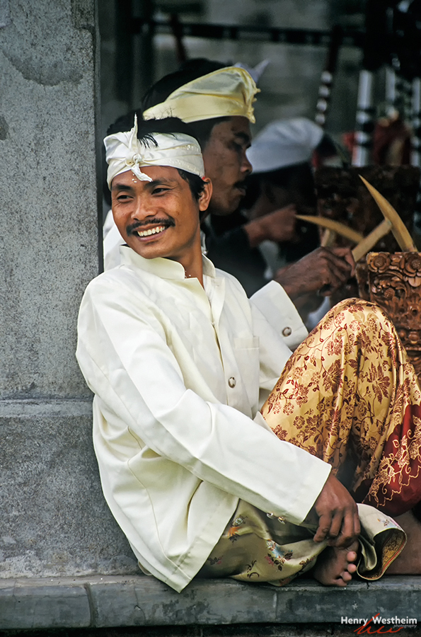 Bali, Man in traditional clothes, Indonesia