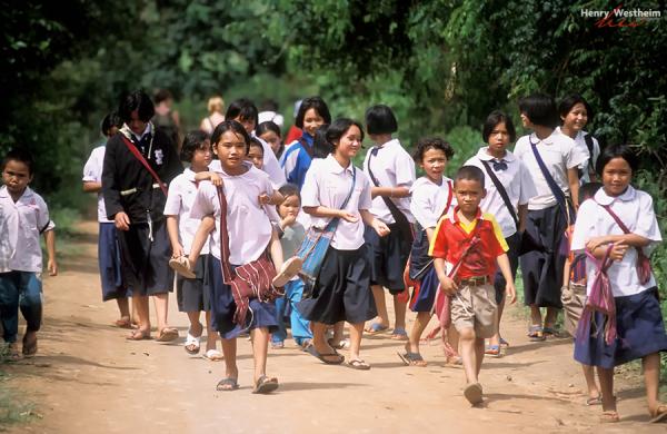 Karen Hill Tribe Children, Thailand, Chiang Mai