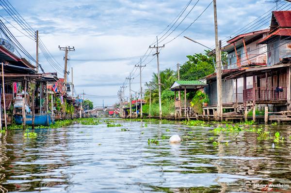 Canal, Ratchaburi Province, near Bangkok, Thailand