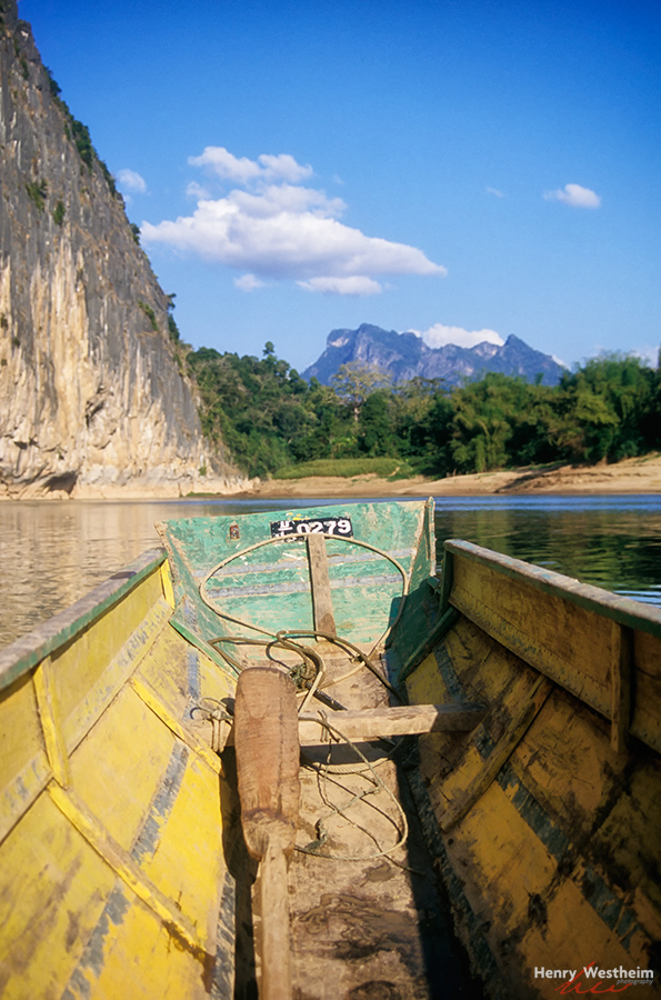 Laos, My row boat on the Mekong River