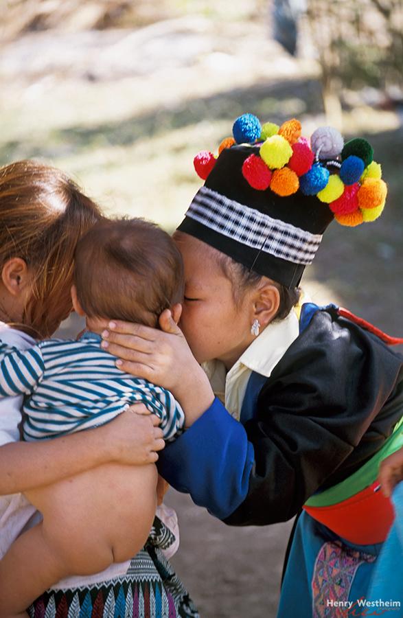 Laos, Hmong Children, near Luang Prabang