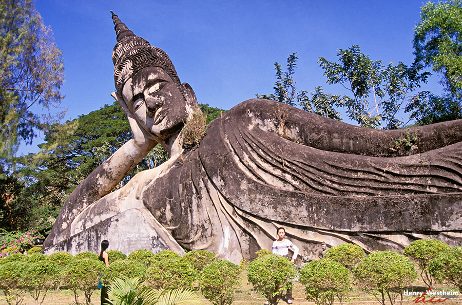 Laos, Vientiane, Buddha Park, Giant Buddha