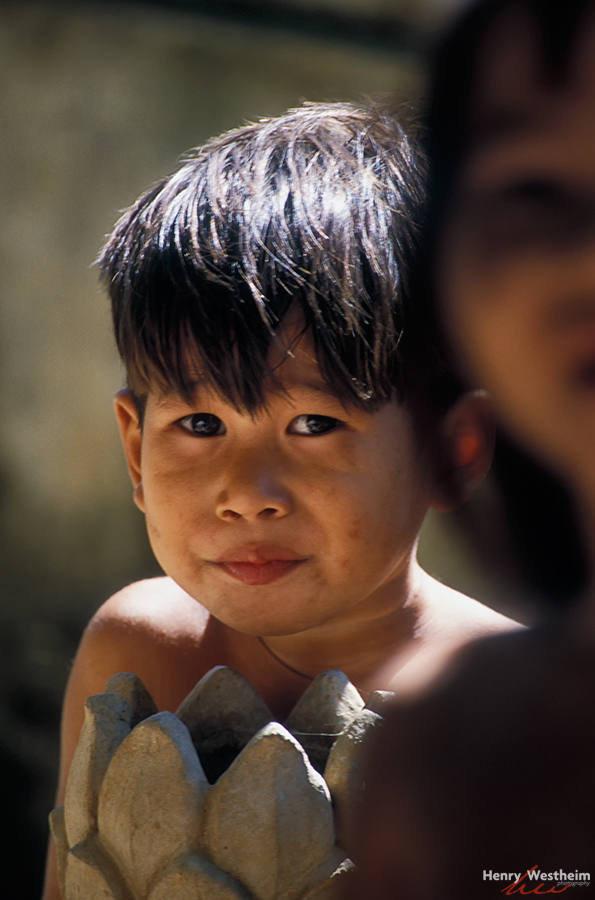 Cambodia, Portrait of a young boy