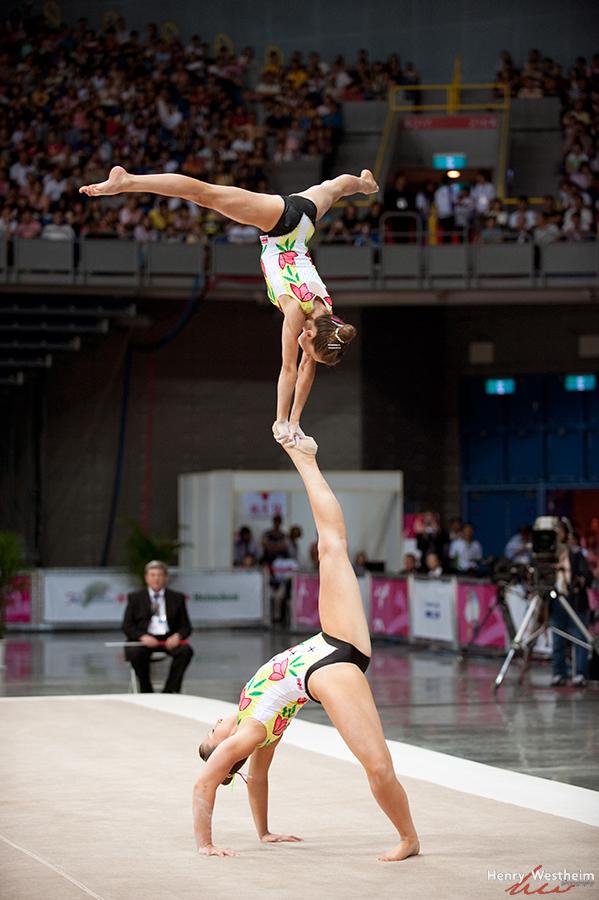Gymnastics Acrobatics Pair Women competition