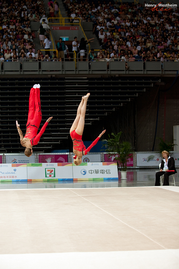 Gymnastics Acrobatics Mixed Pair competition