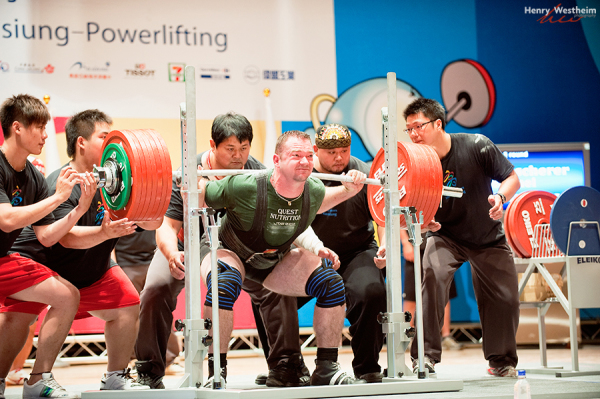 Men's Superheavyweight Powerlifting competition