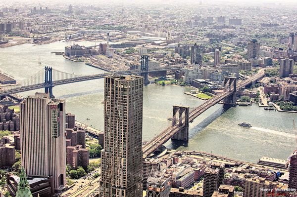 Brooklyn Bridge and Manhattan Bridge, NYC