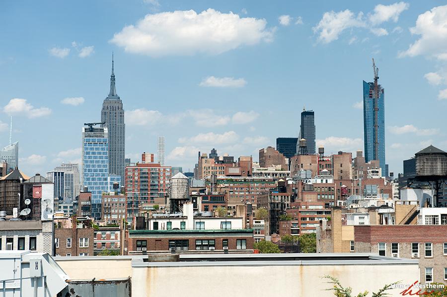 NYC skyline view from my window