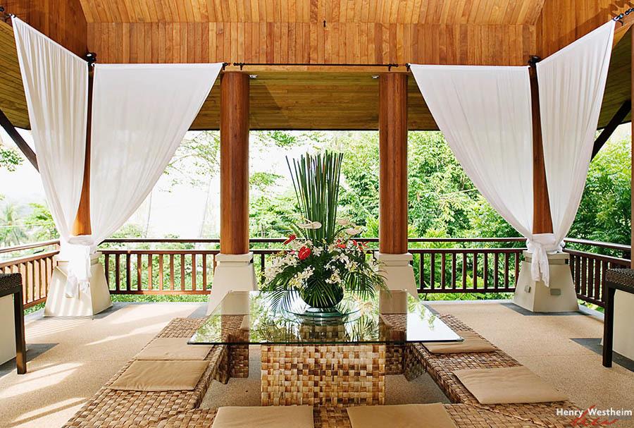 Outdoor dining room, Phuket, Thailand