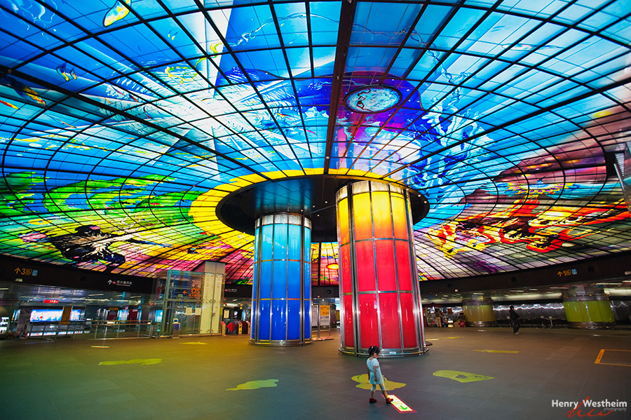 Dome of Light, Kaohsiung MRT station, Taiwan