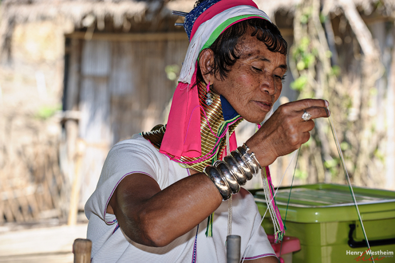 Karen Long Neck woman, Chiang Rai, Thailand