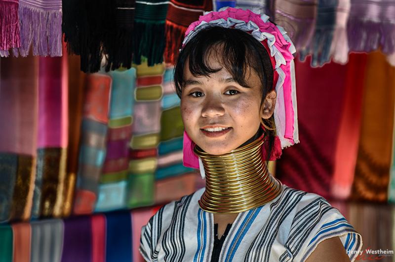 Karen Long Neck young woman, Chiang Rai, Thailand