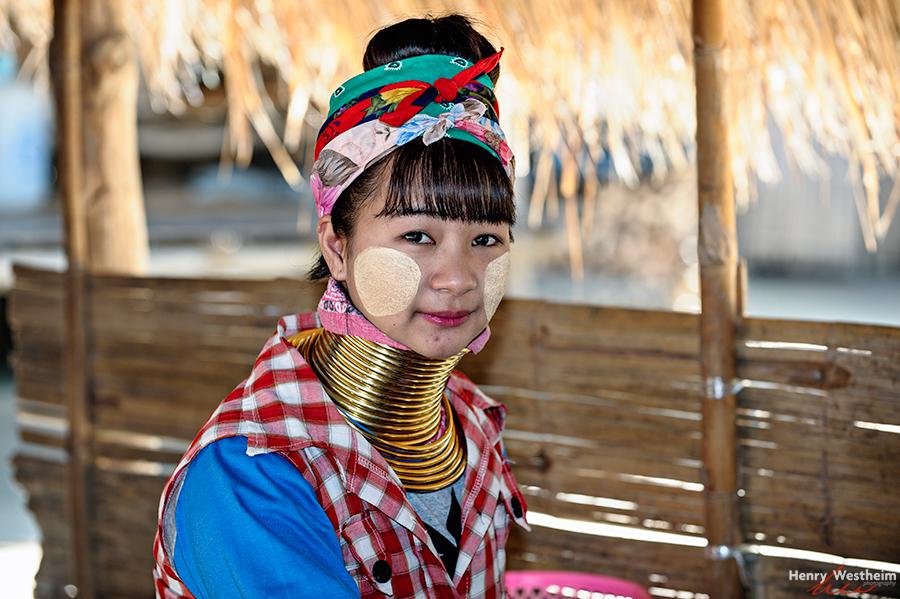 Karen Long Neck girl, Chiang Rai, Thailand