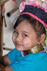 Karen Long Neck young girl, northern Thailand