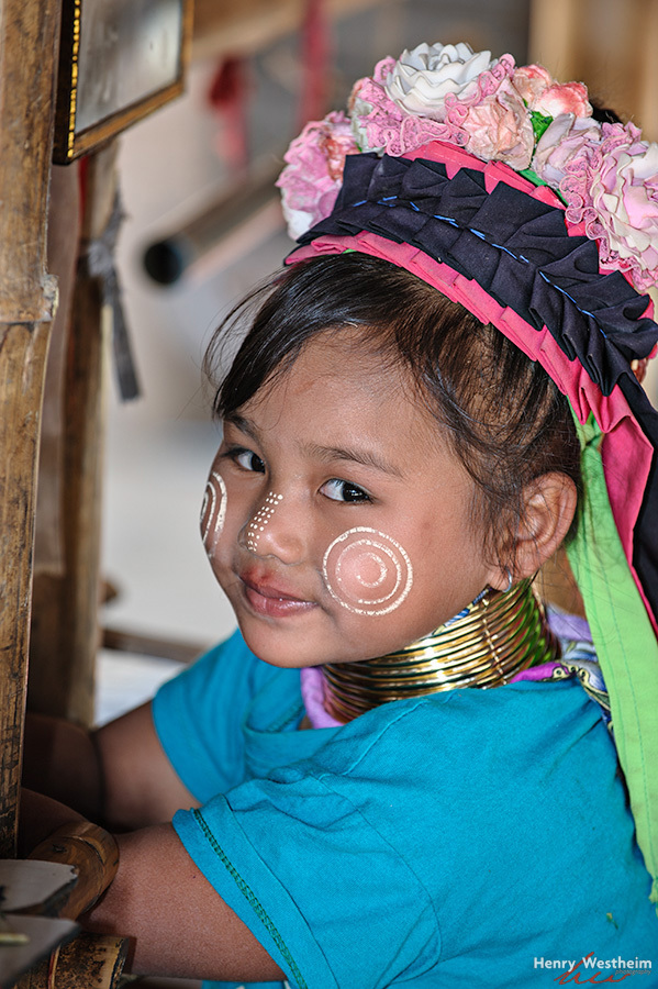 Karen Long Neck young girl, northern Thailand