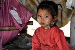 Karen Long Neck child, northern Thailand