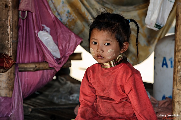 Karen Long Neck child, northern Thailand