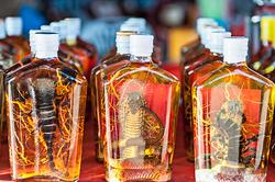 Laoatian whisky, Don Sao Island, Laos