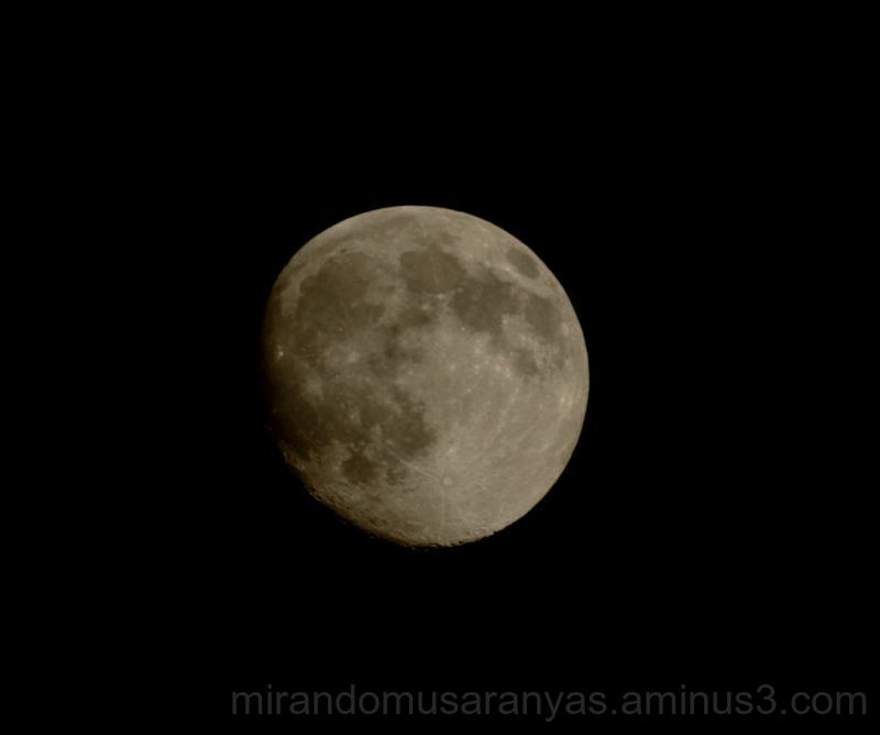 La luna en la noche...