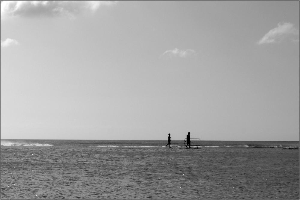 Marcher sur l'eau et franchir les barrières