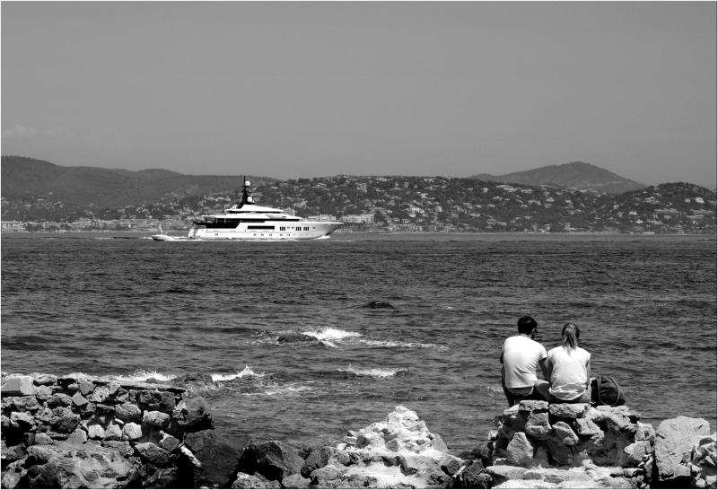 Regarder passer les yachts