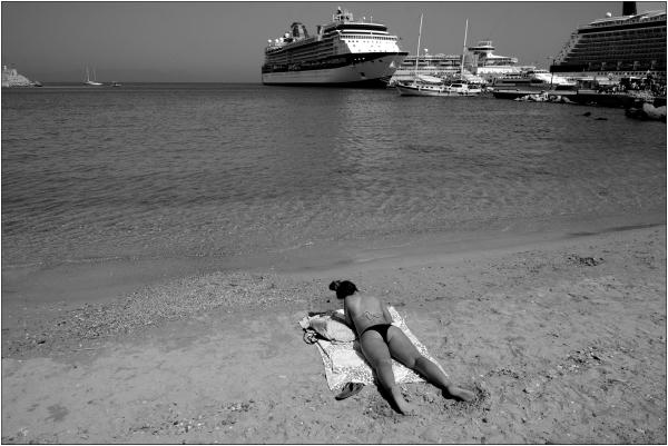 Petite plage tranquille