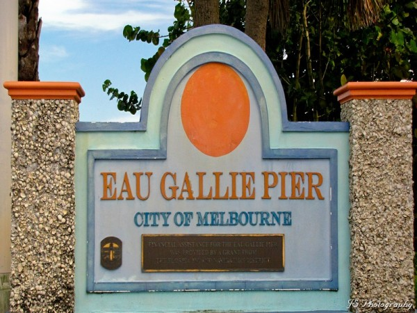 Entrance to Eau Gallie Pier