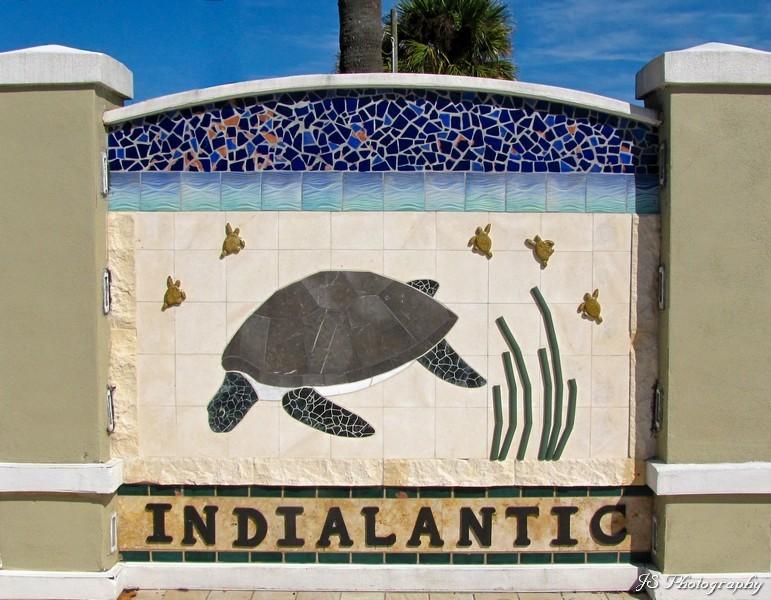 Indialantic Mosaic Sign