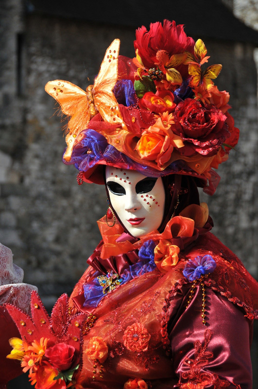 masked personage, Carnaval venitien d'Annecy 2015