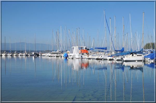 sailing boats in Geneva harbour