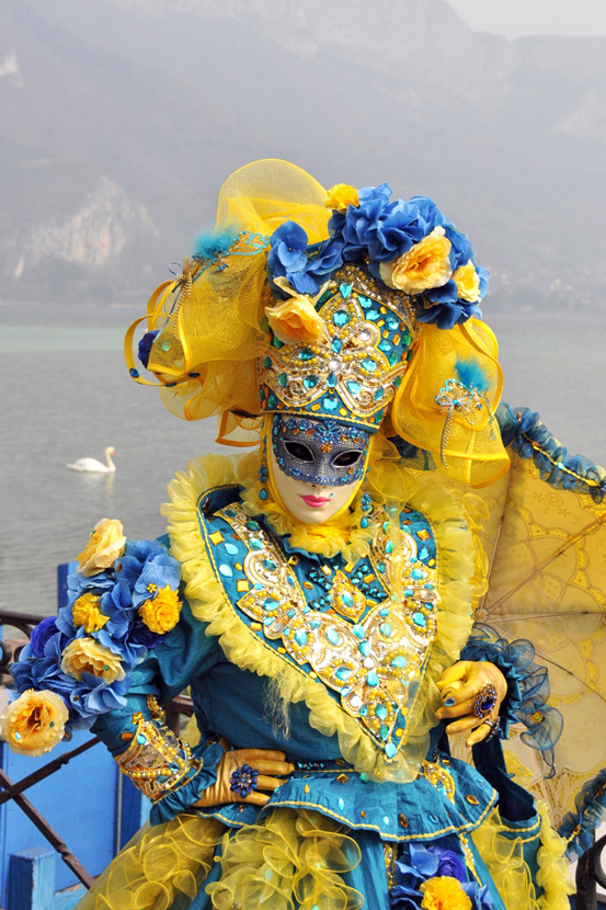 """mask"" at the Venetian carnival in Annecy, 2014"