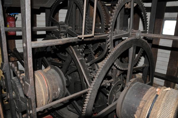 Rouen, part of mechanism inside the Gros-Horloge