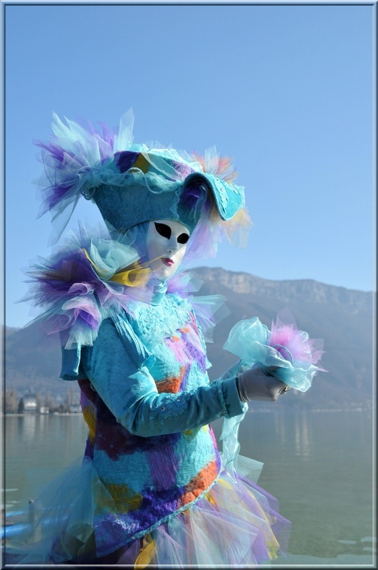 person at the Venetian carnival in Annecy, 2012