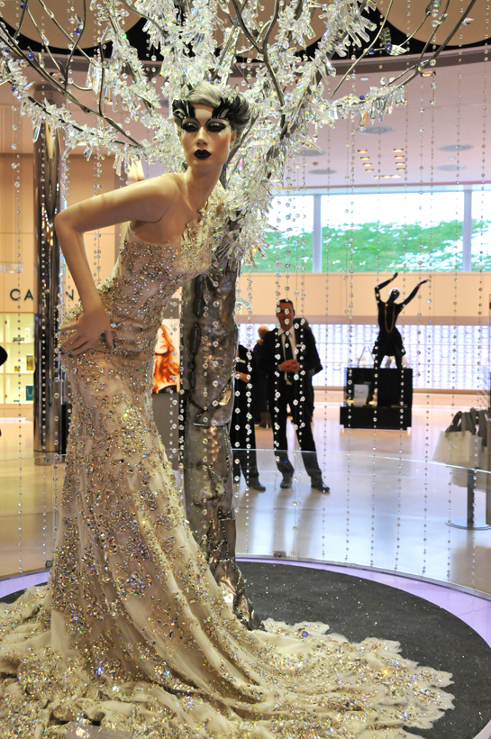 a haute couture dummy in Swarovski Museum, Wattens