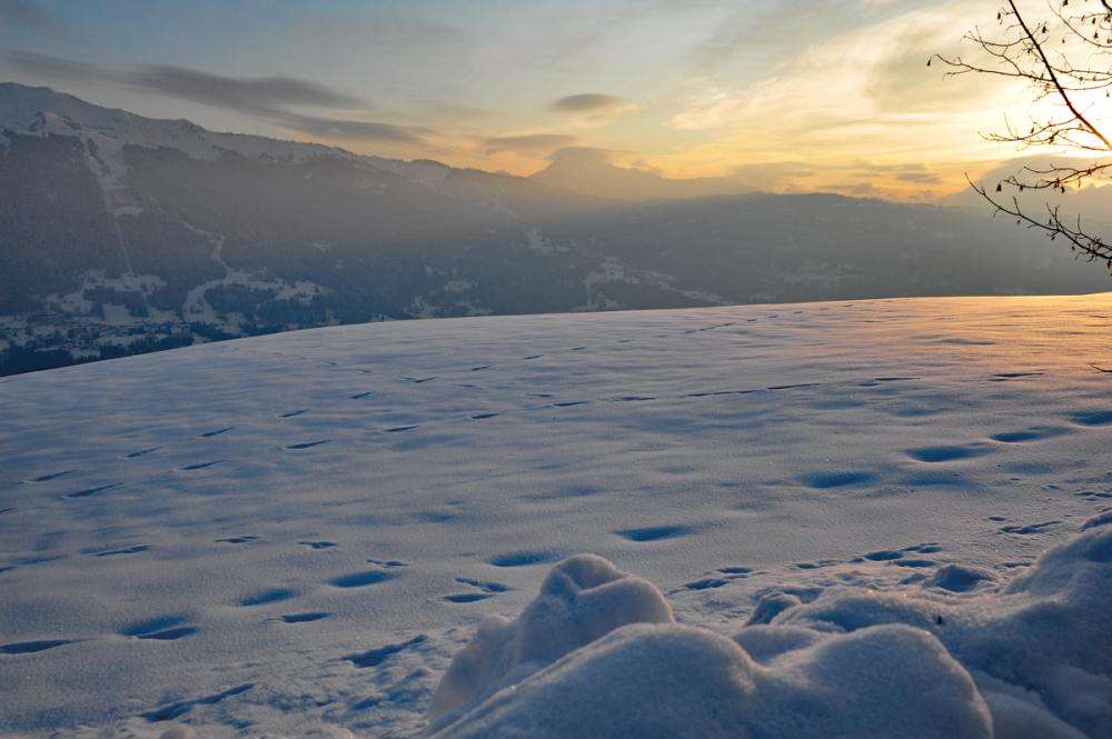 sunset in the mountain (Haute-Savoie)