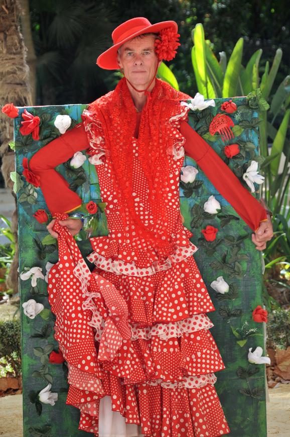 funny dressed at Seville